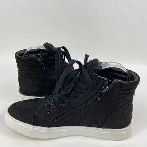 Steve Madden Demmie Black Sneakers Size 7.5